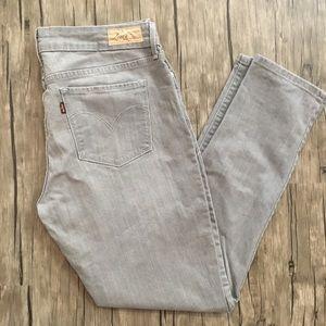 Levi's Grey Skinny Jeans Demi Curve Modern Rise